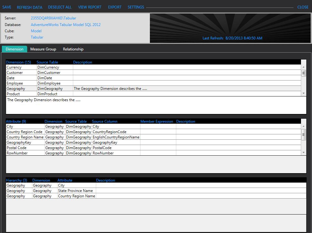 SSAS Tabular Documentation Tool Part 2: The Design   jessekraut