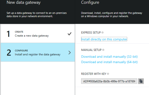 Configure New Gateway